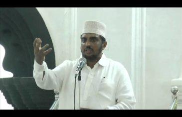 juma khuthba    talk by: BS Sharfuddin